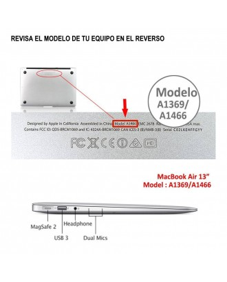 Carcasa Macbook Air 13 / 13.3 A1466 Brain 3