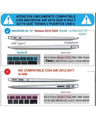 Carcasa Macbook Air 13 2018-2020 Modelo A1932 - A2179 Azul Marino